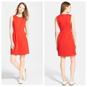 Madewell Abroad Dress in Spark Red